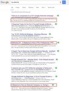 DIY Adwords Google Search