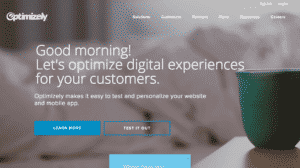 Landing page for Optimizely