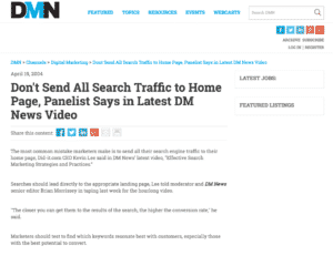 Don't Send All Search Traffic to Home Page article
