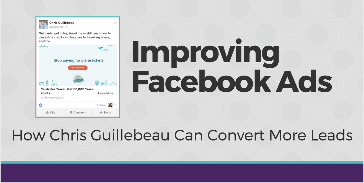 Facebook Ads Audit: Chris Guillebeau [+ Video]