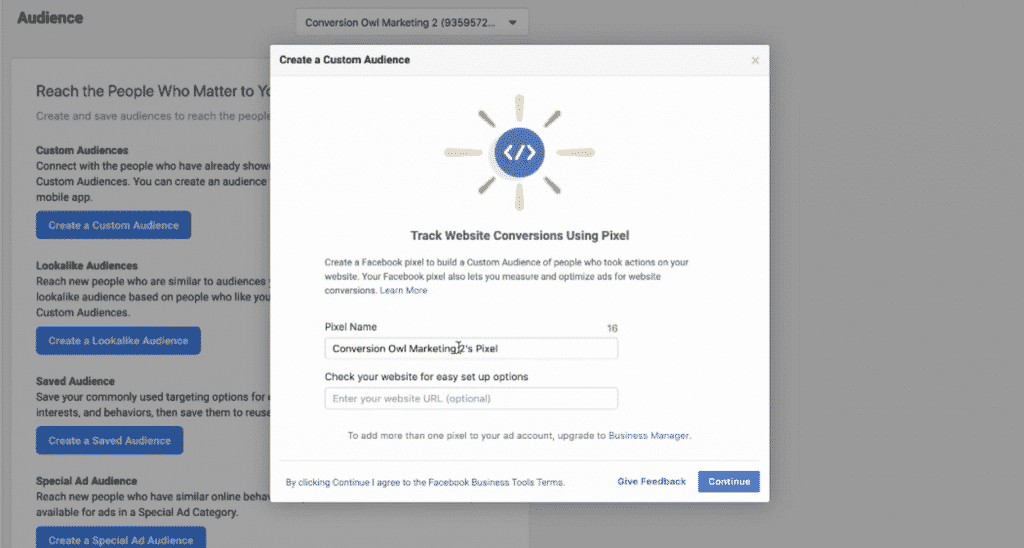 create facebook pixel custom audiences