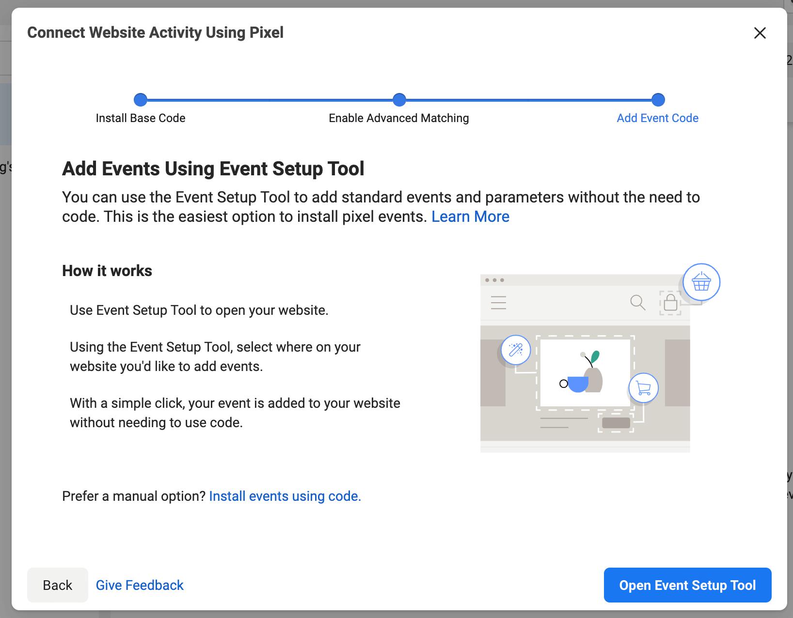 facebook event setup tool